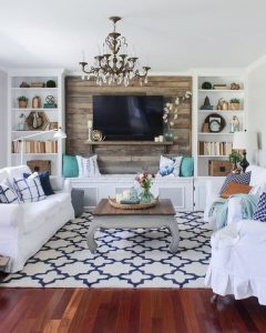 10 rustic chic living room фото